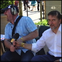 Shane O'Connor meets Raymond Le Blanc at The Chelsea Flower Show